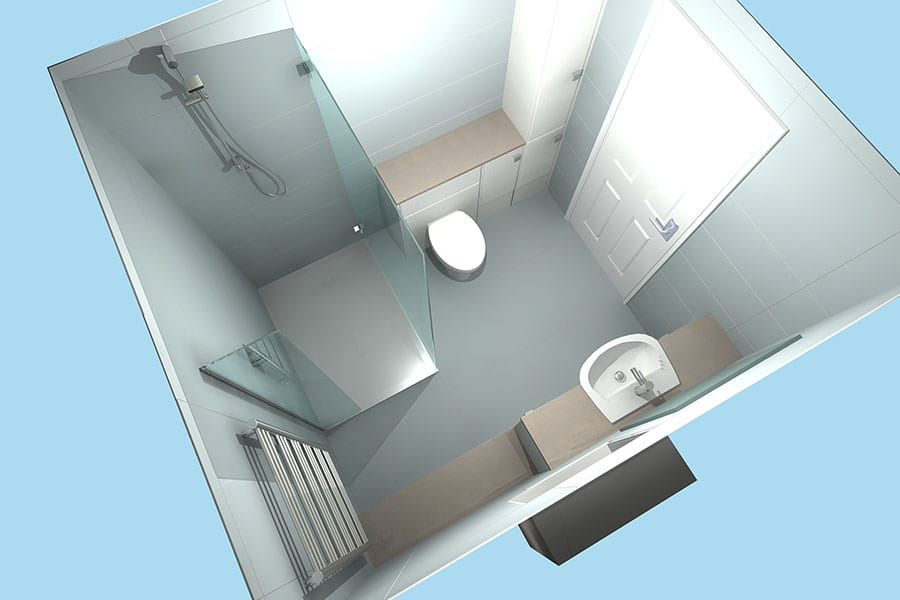 3D bathroom design for new project in Dorset