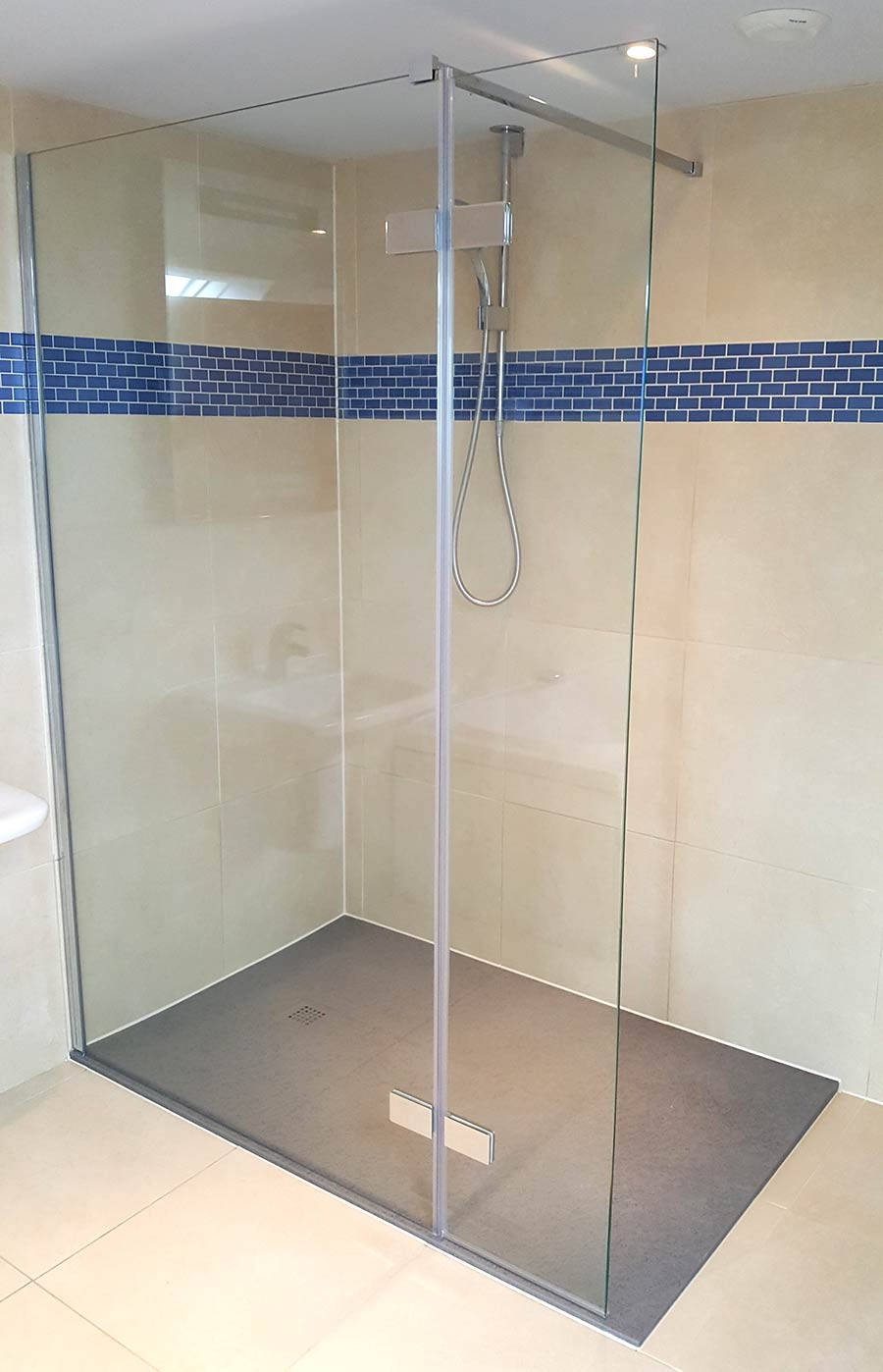 New Simpsons Elite walk-in shower enclosure installed in a wetroom by Room H2o