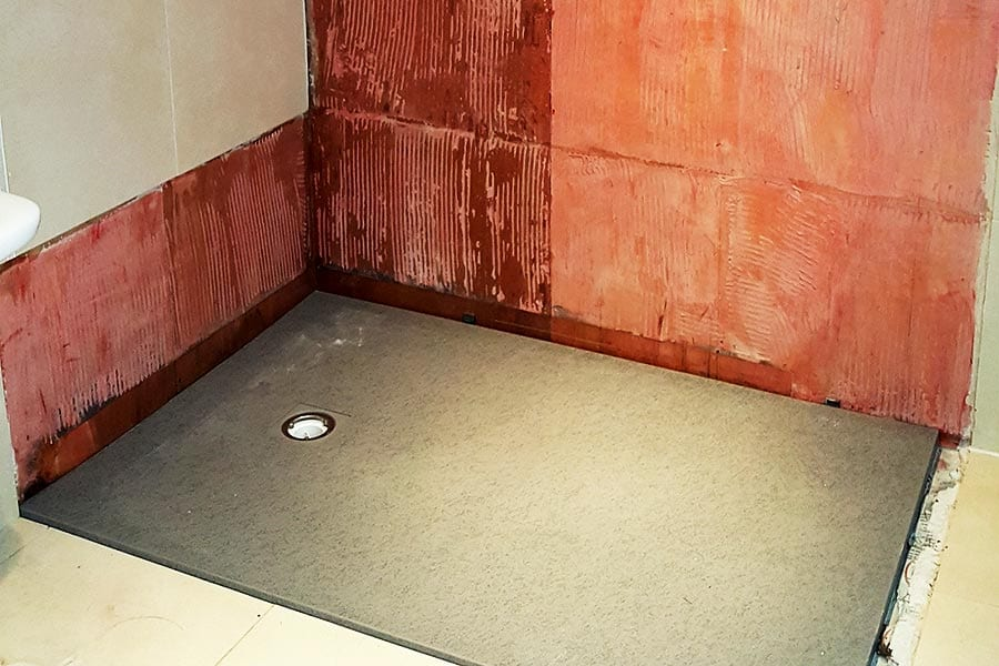 New made to measure shower tray for a wetroom by Room H2o
