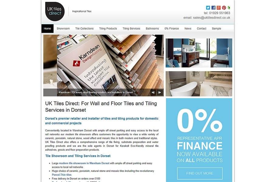 UK Tiles Direct website