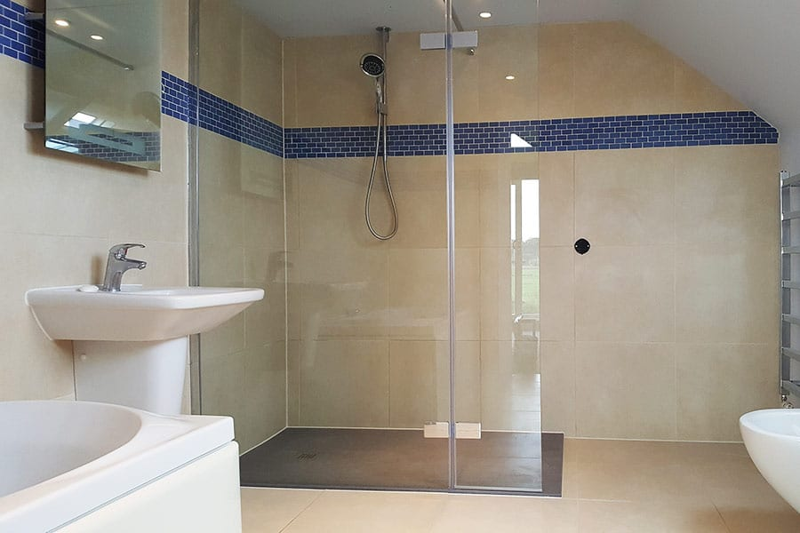 A Room H2o Custom Made Shower Tray Fitted In Place Of A Wetroom Floor
