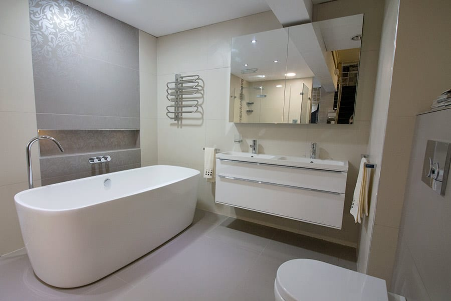 Luxury bathroom and tile display at Room H2o in Wareham Dorset