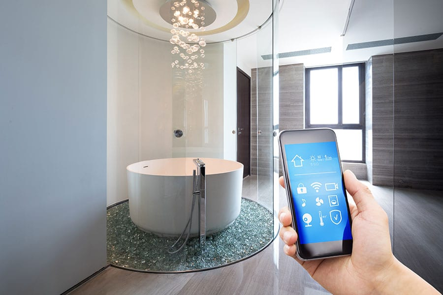 Smart shower controlled by mobile phone