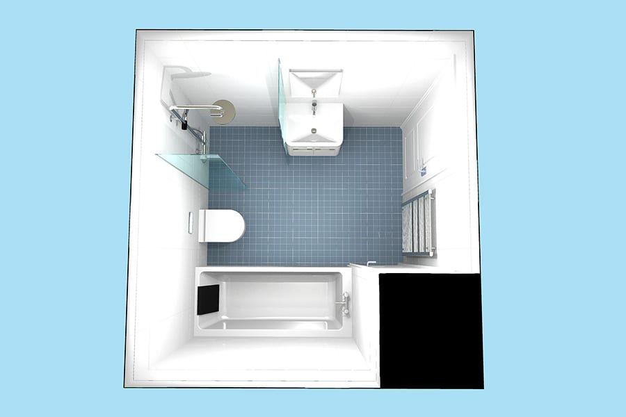 Plans for and easy access disabled bathroom by Room H2o for a customer in Dorset