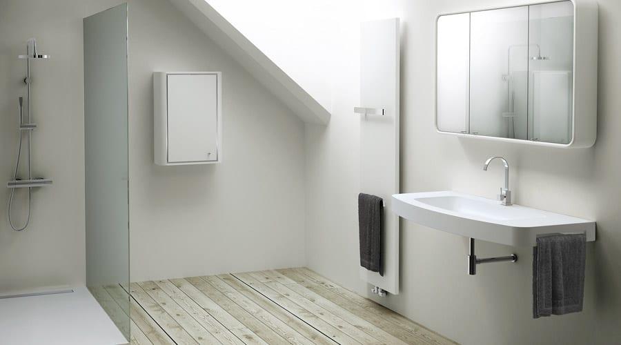 loft en suite bathroom with frameless walk in shower screen - En Suite Bathroom