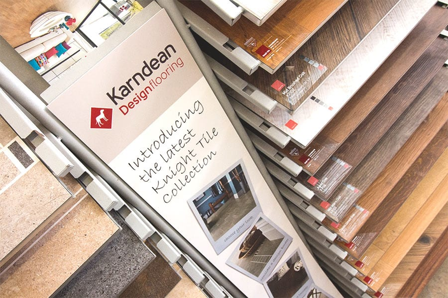 Karndean vinyl flooring collection in Dorset showroom