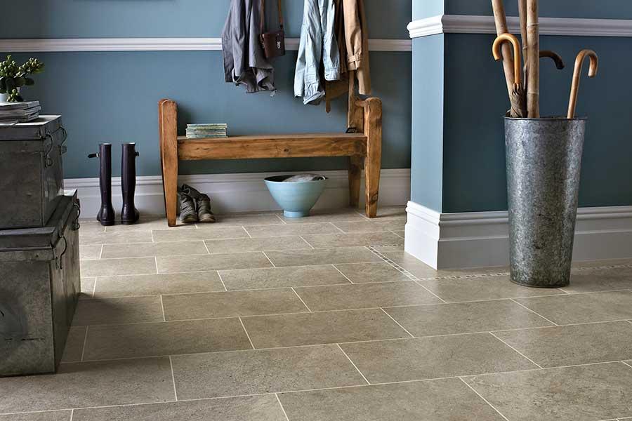 Karndean Knight Portland Stone effect vinyl flooring