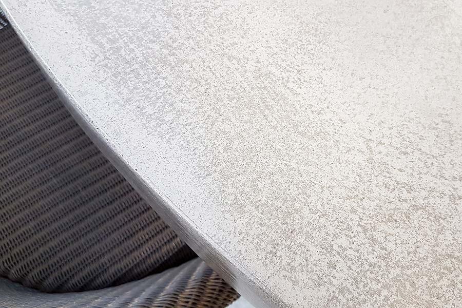 Polished concrete bathroom worksurface