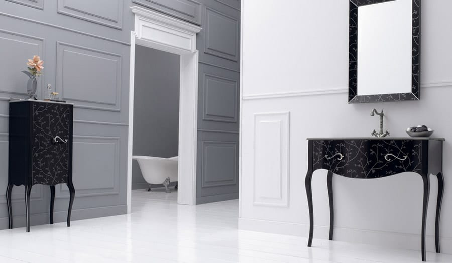 Fiora Vivaldi black classical bathroom furniture from Room H2o