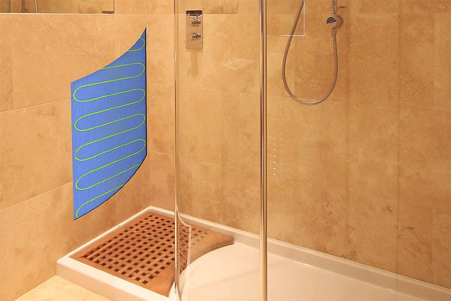 Electric Shower Floor And Wall Heating Mats For Wetrooms And Shower Rooms