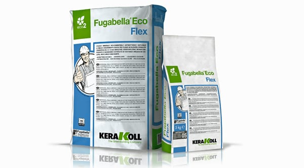 Kerakoll FUGABELLA flexible and anti-bacterial mineral tile grouts for indoor and outdoor tiling projects