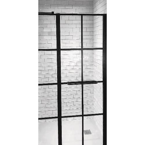 Hinged shower door from Drench Frame collection