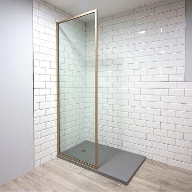 Inspirit beige shower screen