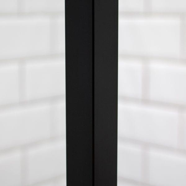 Inspirit shower screen black frame detail