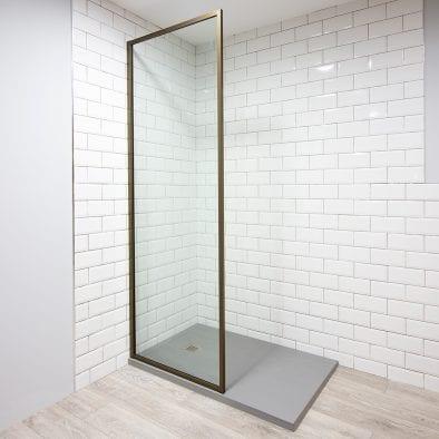 Inspirit bronze shower screen