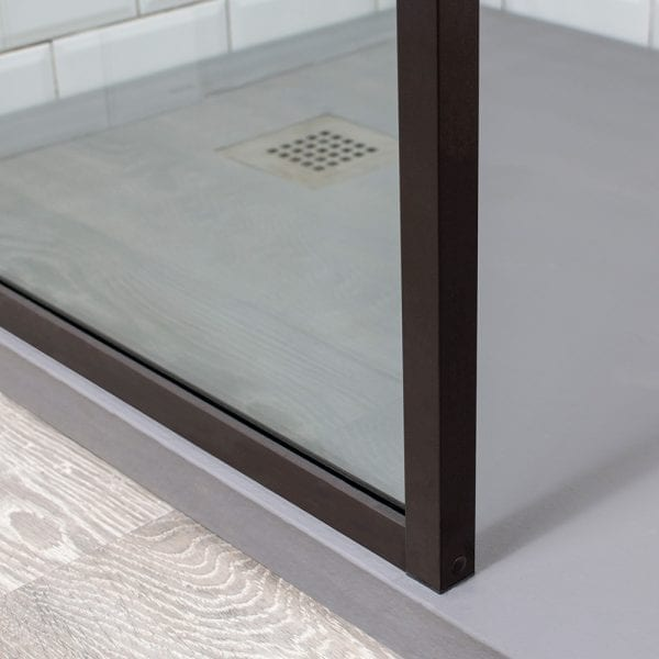 Inspirit brown shower screen corner detail