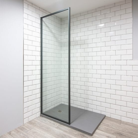 Inspirit grey shower screen