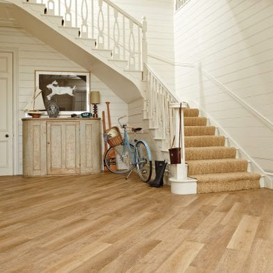 Karndean Knight Tile pale pale limed oak effect vinyl plank flooring
