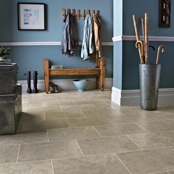 Lovely period entrance hall with Karndean Knight Tile Portland Stone vinyl floor tiles
