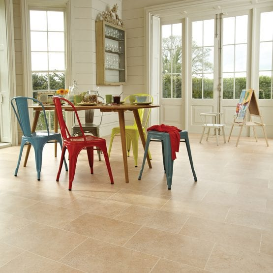Karndean Knight Tile York Stone vinyl floor tiles in a kitchen