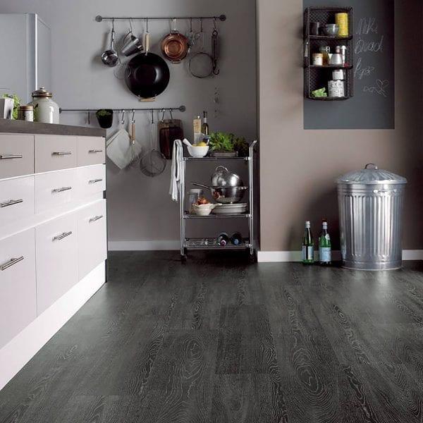 Karndean opus argen vinyl plank flooring in a modern kitchen