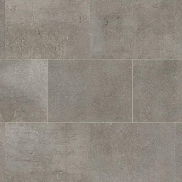 Karndean Fumo stone effect grey vinyl floor tiles surface detail