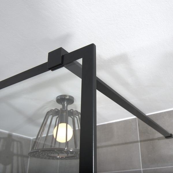 Elegant detailing of a FRAME black shower screen by Drench