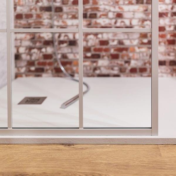 Drench Matte Frame Lite shower screen frame detail