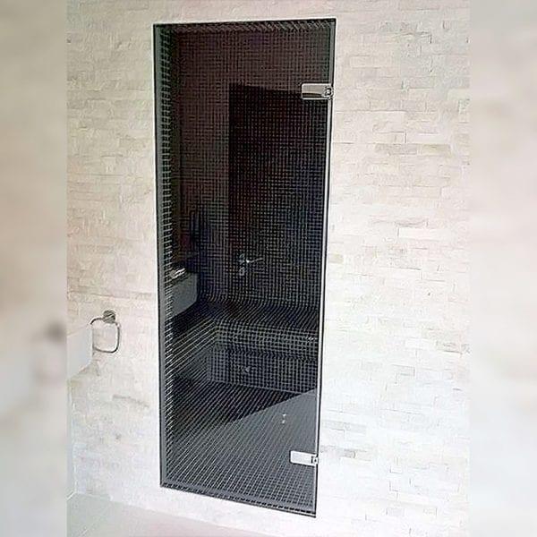 Room H2o frameless glass hinged shower door for recess