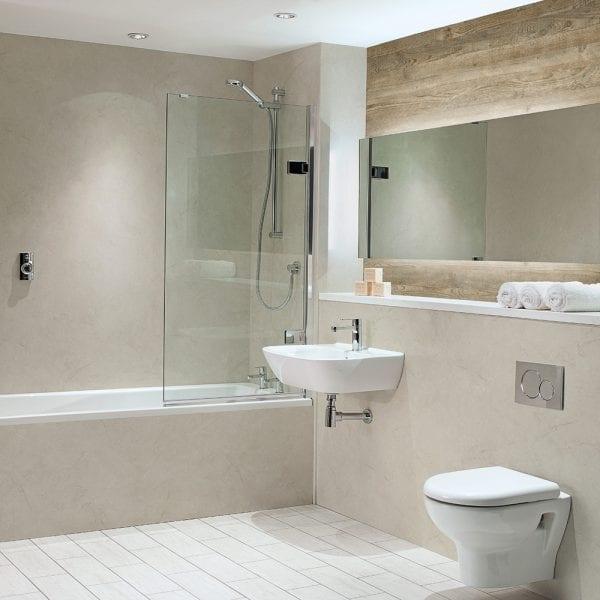 BB Nuance Alabaster bathroom wall panels