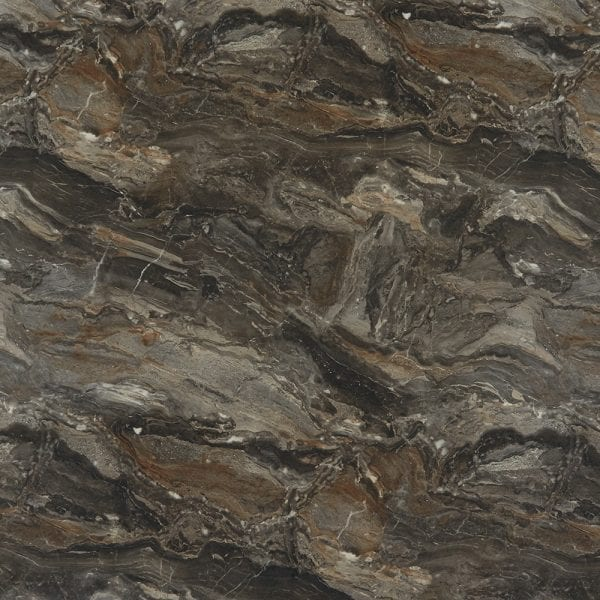 Bushboard Nuance Antique Paladine bathroom wall cladding board in chocolate stone effect