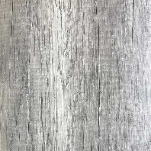 Surface detail image of a Bushboard Nuance Driftwood effect bathroom wall panel in pewter silver colour