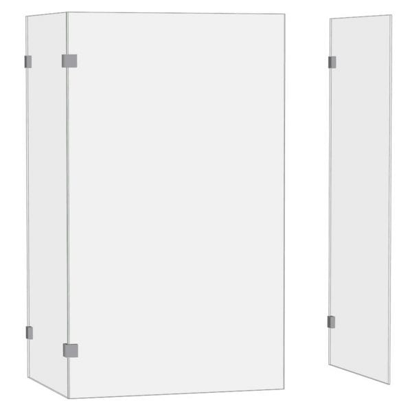 Room H2o bespoke frameless glass walk-in shower screen