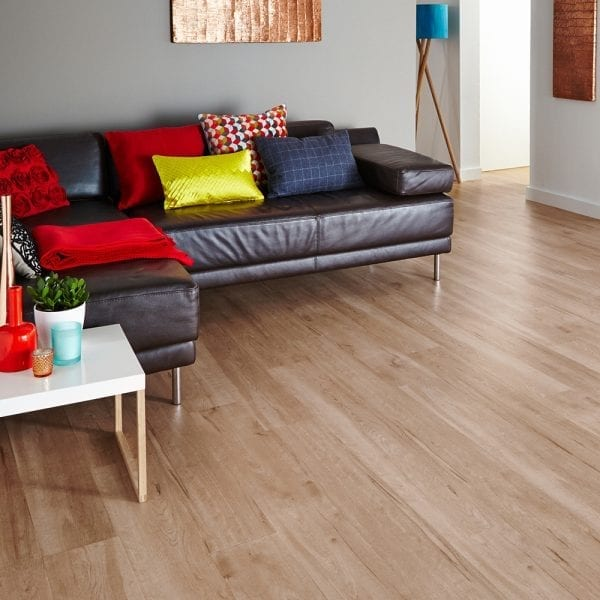 Karndean Van Gogh Birch wood vinyl plank flooring in a lounge