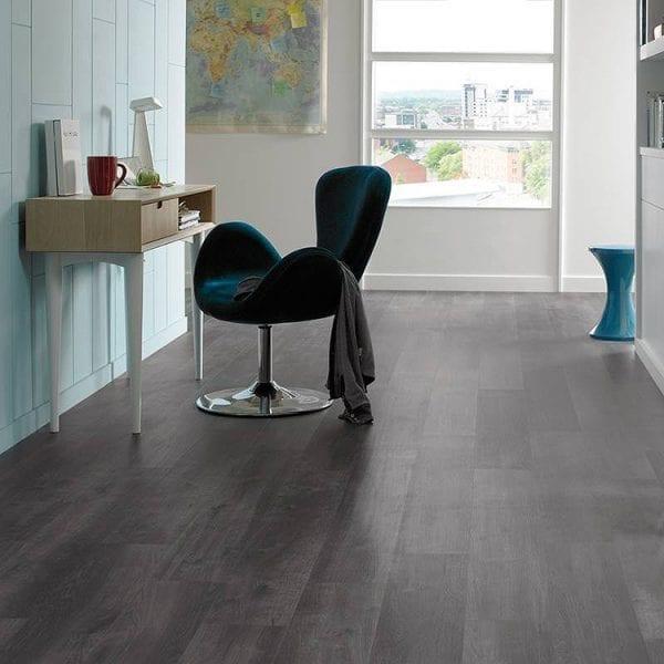 Karndean Ebony dark oak effect vinyl floor planks