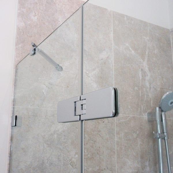 Room h2o glass to glass chrome frameless shower door hinge
