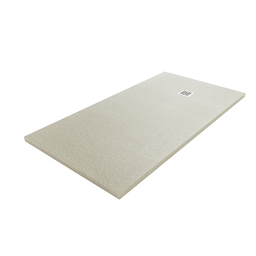 Fiora Silex low profile designer shower tray in Cenere concret grey 37T