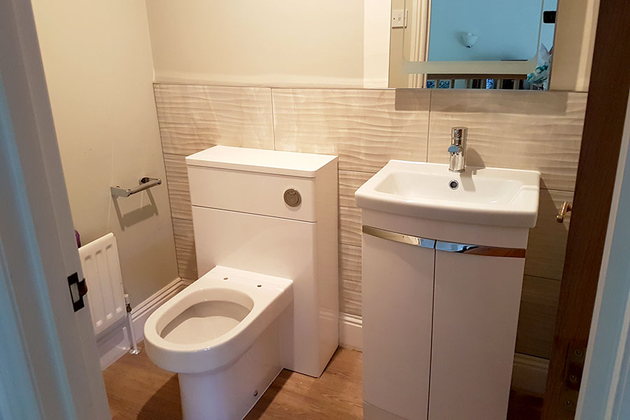 New cloakroom design and installed by Room H2o in Studland