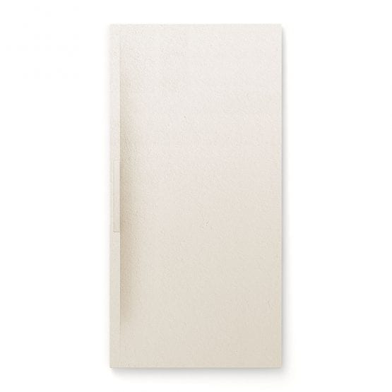 Fiora Trace shower tray in Blanco Roto cream colour
