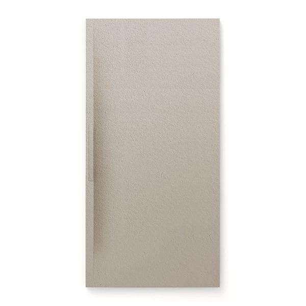 Fiora Trace shower tray in Seda grey colour