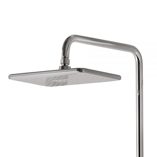 Vema white and chrome square designer shower head