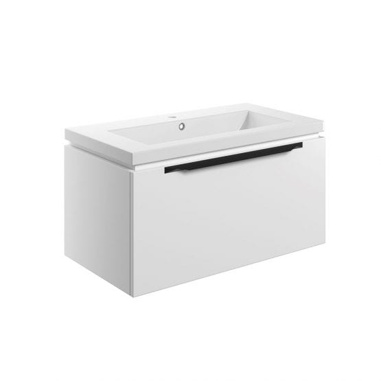 Framework Matt White 600 Wall Hung Vanity Unit & Basin