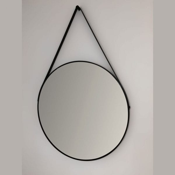 Modena 60cm black round hanging bathroom mirror DIMR0010