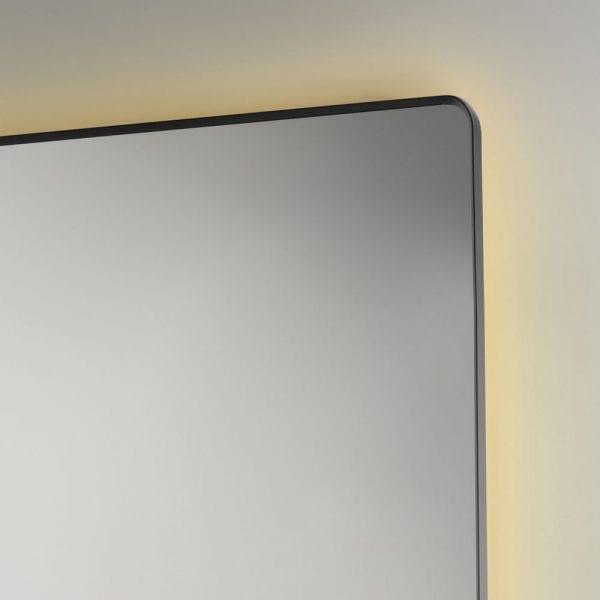 Rio 120x80cm illuminated bathroom mirror edge and ambient lighting detail