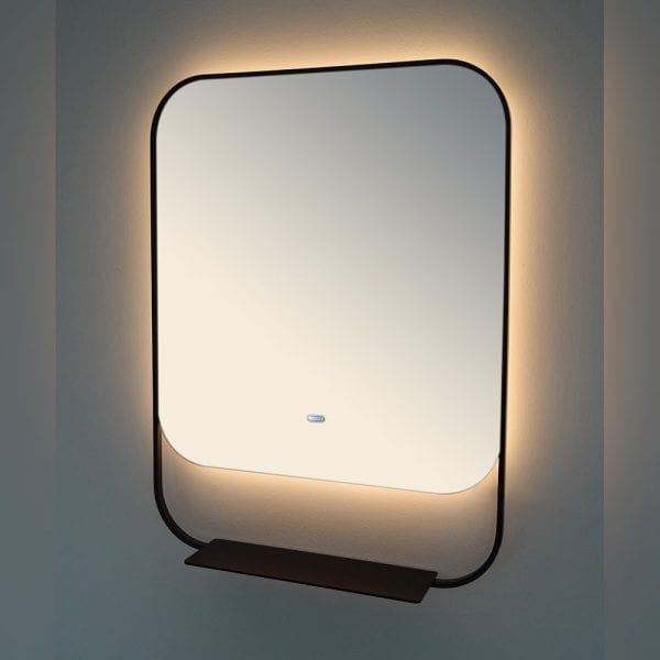 Black Luxxo 600x800mm Backlit Mirror DIMS0036