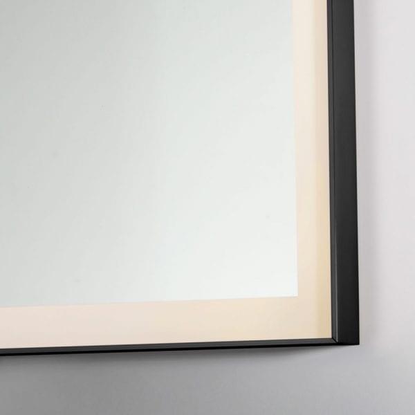 Black Lecco 600x800mm Backlit Mirror edge lighting detail