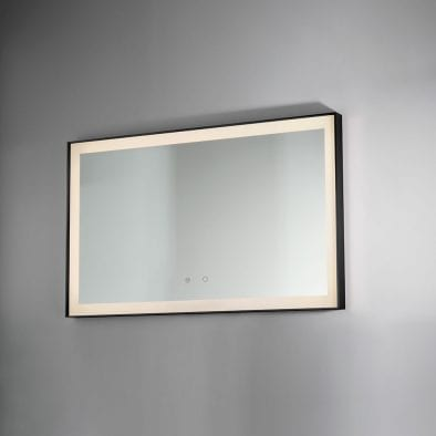 Black Lecco 600x800mm Backlit Mirror DIMS0040