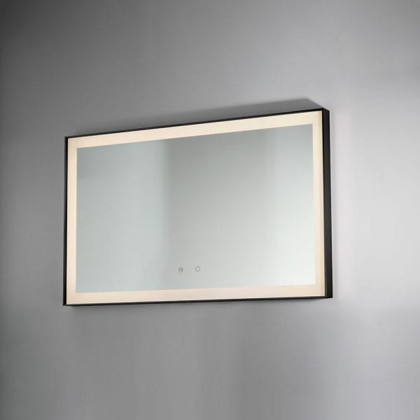 Black Lecco 600x800mm Backlit Mirror DIMS0040