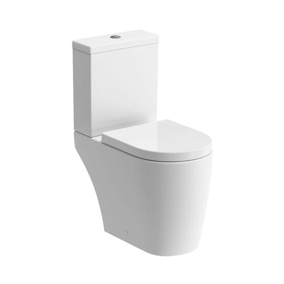 Cilantro Rimless C/C Open Back WC & Soft Close Seat