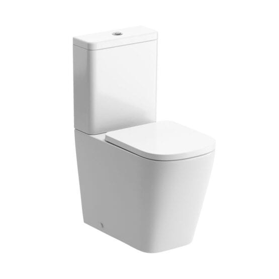 Tilia square close coupled and fully shrouded rimless toilet DIPTP0176